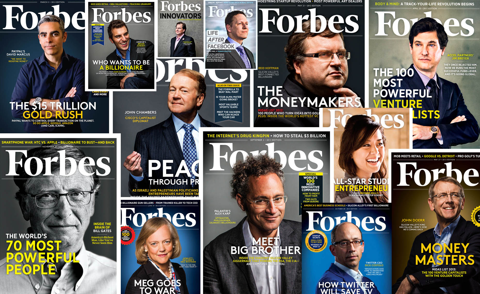 forbes magazine covers photographed by Eric Millette
